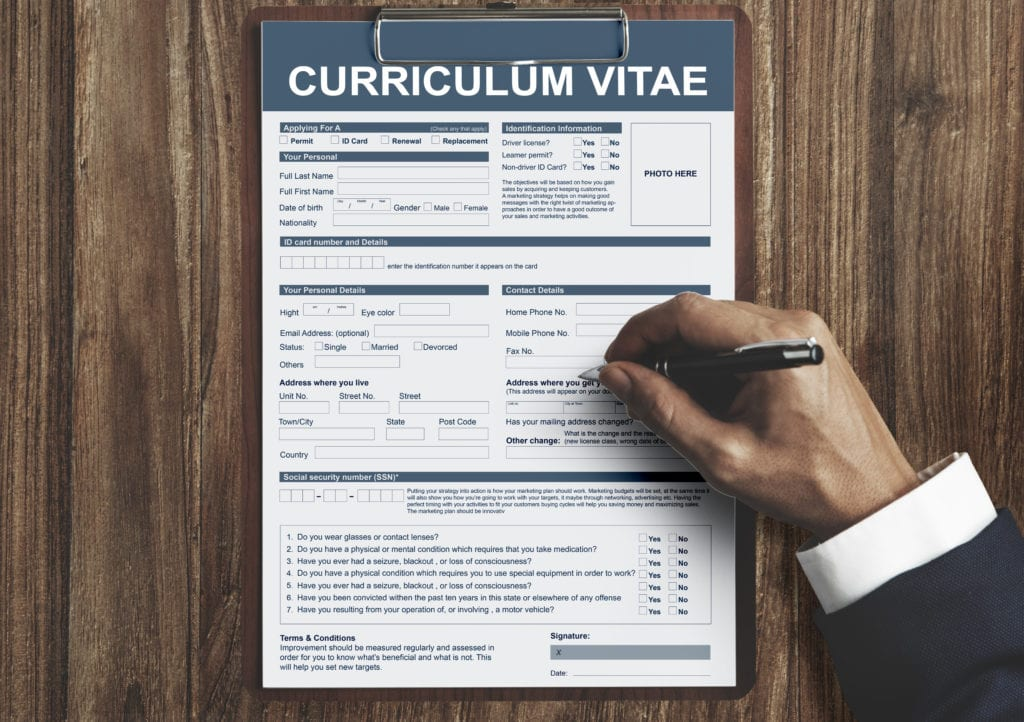 curriculum vitae resume job application concept P7SNDLJ scaled