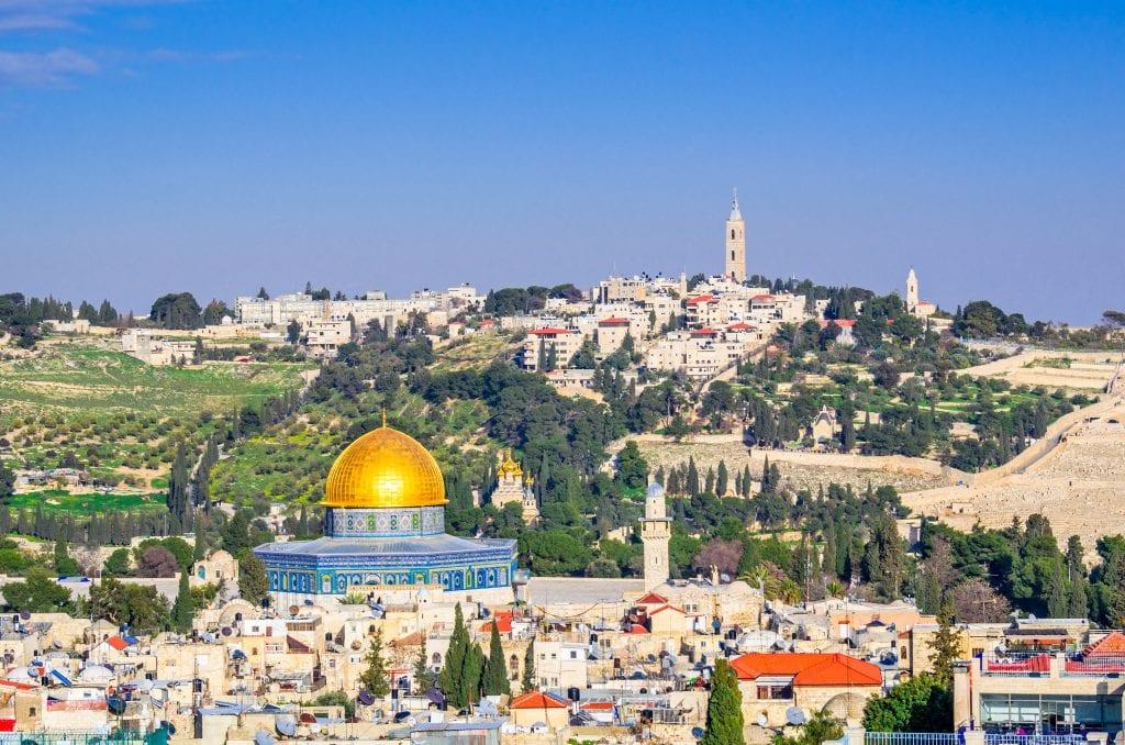 תרגום מערבית לעברית בתמונה: ירושלים, קו הרקיע של העיר העתיקה